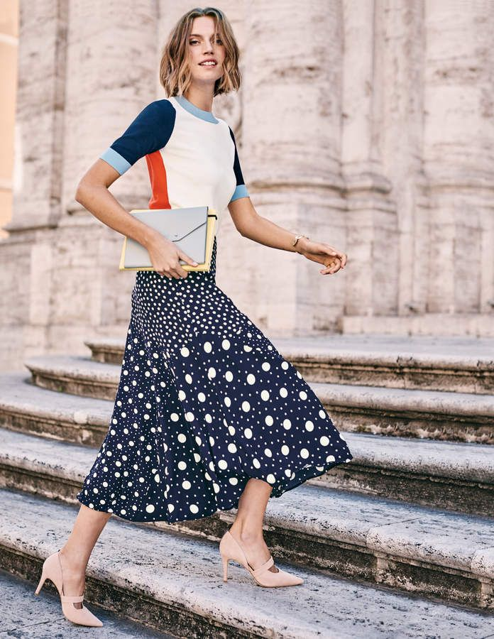 7b0b8a235 Boden Colour Detail Knitted Tee in 2019 | Products | Midi skirt ...