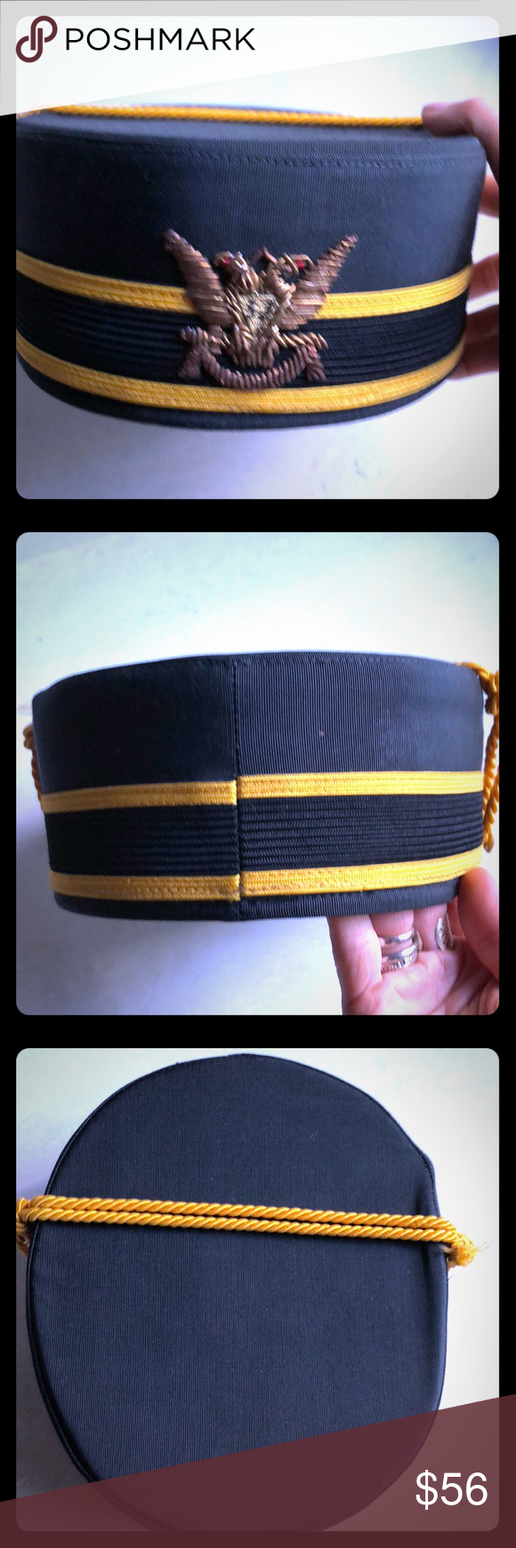 Robinson Jewelers Bellhop hat Vintage Sz 7 New Hats vintage