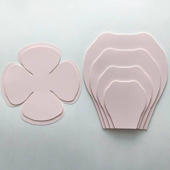 Paper flower templates Ideas para las Fiestas Pinterest Diy