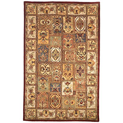 Safavieh Classic Collection CL386A Handmade Multicolored Wool Area Rug, 6 feet by 9 feet (6′ x 9′) #handmade Safavieh's Classics Collection reinterprets some of the finest Persian and European designs. These rugs bring traditional sophistication and the authentic look and feel of these classic rugs. Each rug is made from 100% pure, premium wool.  The finished rugs are given a luster wash to give the pile a plush, soft feel. The soft palettes and open fields make these rugs easy to ma..