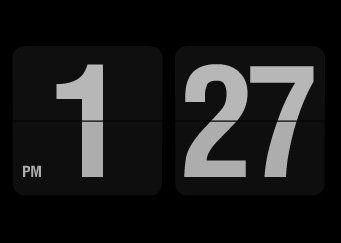 Retro Style Flip Clock Screensaver