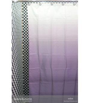 Ombre Stripe Fabric Purple Shower Curtain