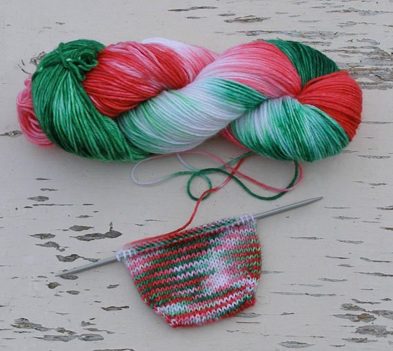 christmas colors sock yarn dk 8 ply yarn self striping hand woolen socks baby bunting