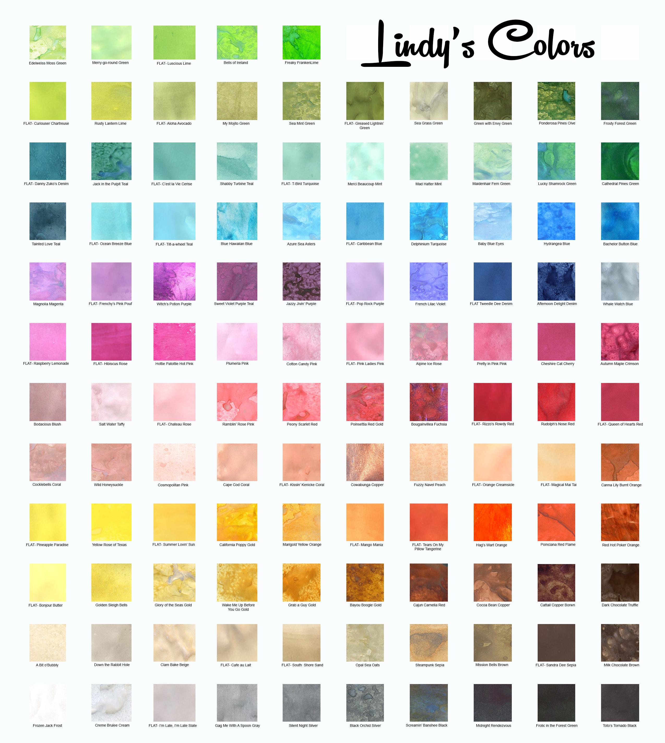 Color Chart   Karten, Anleitungen, Copics