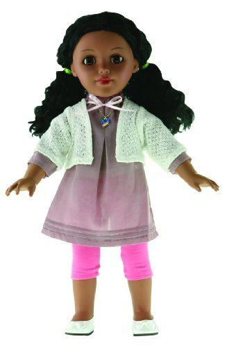 "Be My Girl Zoe Doll by PARADISE KIDS. $36.99. OUTFITS AND ACCESSORIES FIT MOST 18"" DOLLS. SURFACE WASHABLE"