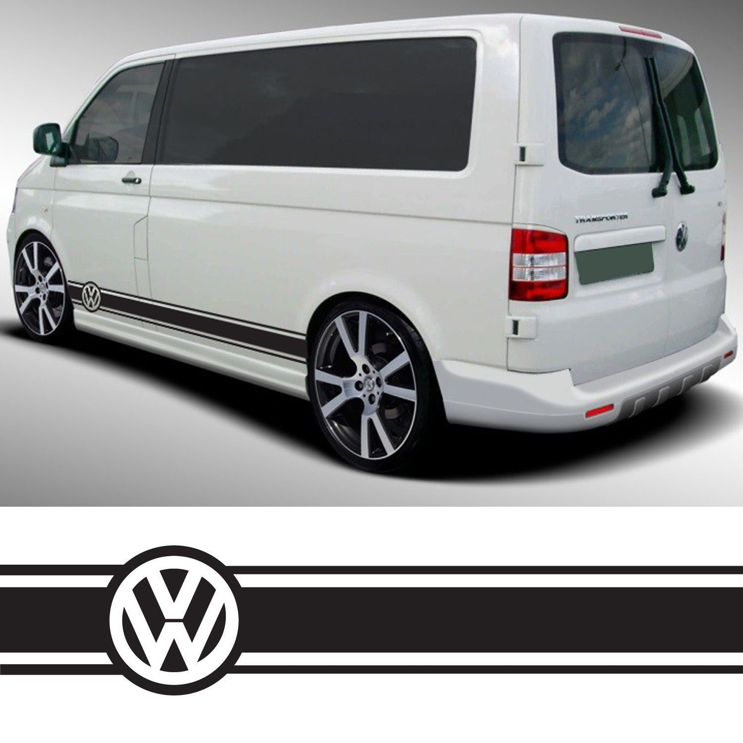 Vw Transporter Camper Van Caravelle Stripes Graphics Decals