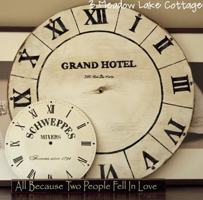 DIY Faux Clock Face (Pottery Barn inspired)