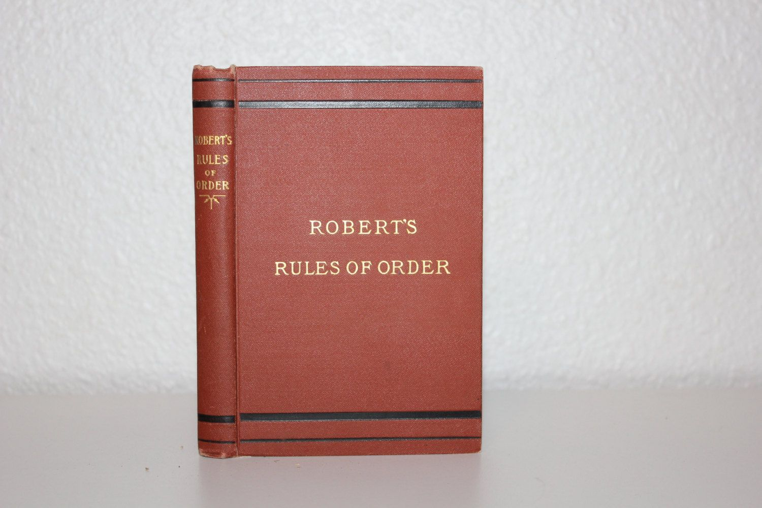 Robert 39 S Rules Of Order By General Henry M Robert 1906 Vintage Book Pocket Manual Red Book Red Black Gold Vintag Red Books Vintage Book Vintage Books