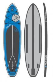 """YOLO INFLATABLE DEEP BLUE 11' X 30"""" X 6"""" W/FREE PADDLE! Portable at a great price!  $1,149.00 http://www.yoloboard.com/shop/all-boards.php #standup #sup #inflatable #standuppaddle #board"""