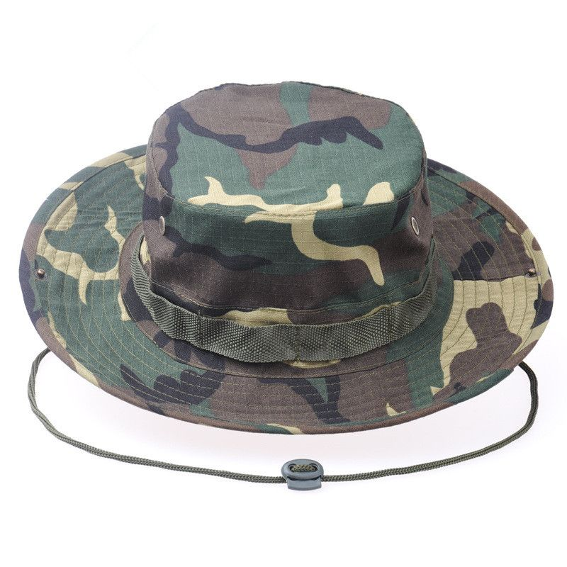 Promotional custom cotton twill camo sport fishing cap bucket hat ... 0b35d12b446