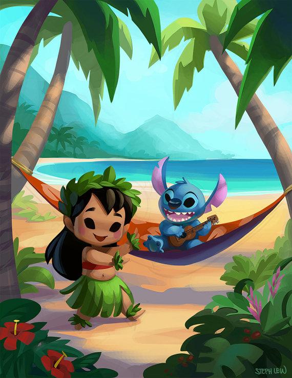 Hawaii Cuties Lilo And Stitch Cosas De Disney Personajes Disney