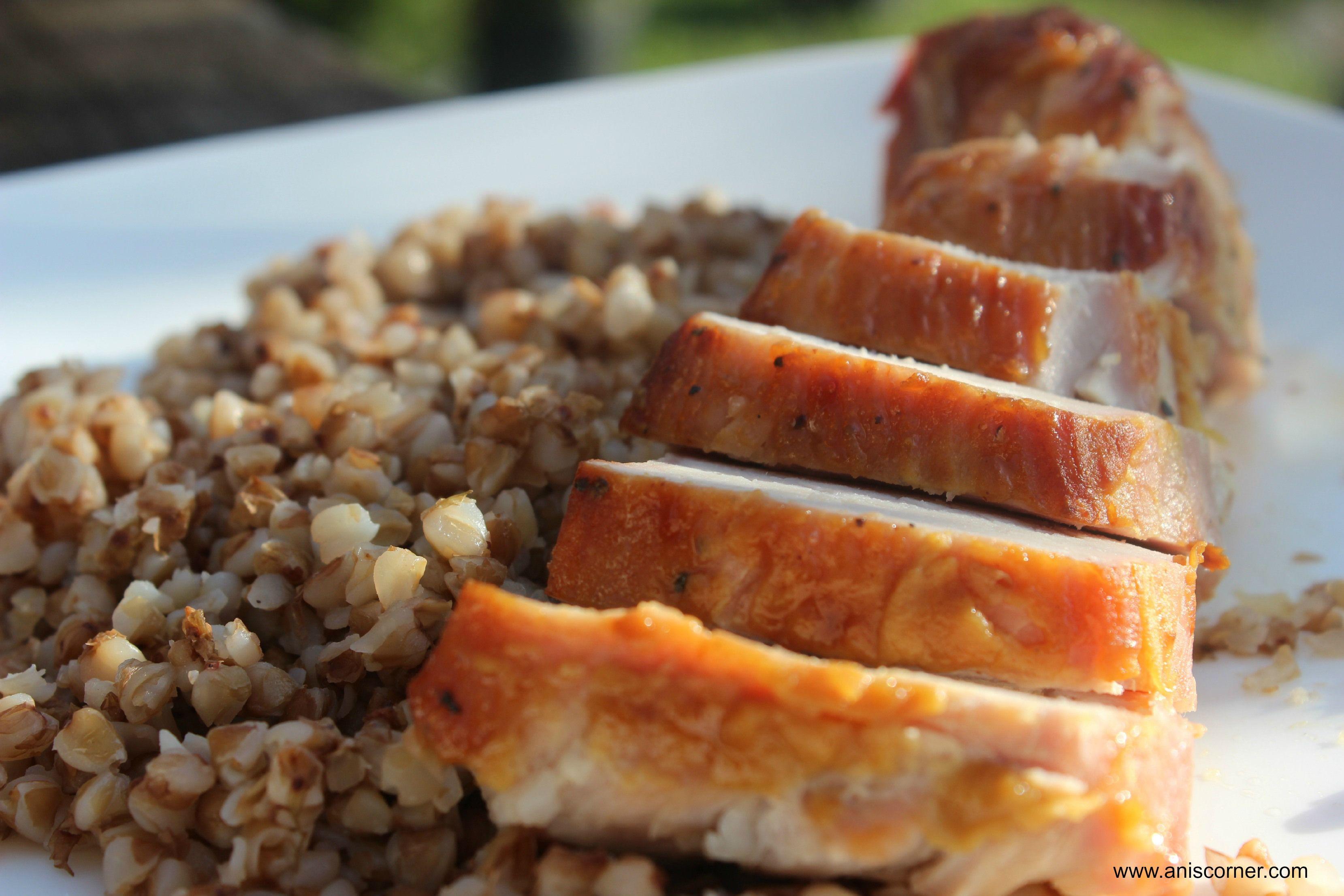 Mustard and Brown Sugar Glazed Pork Loin