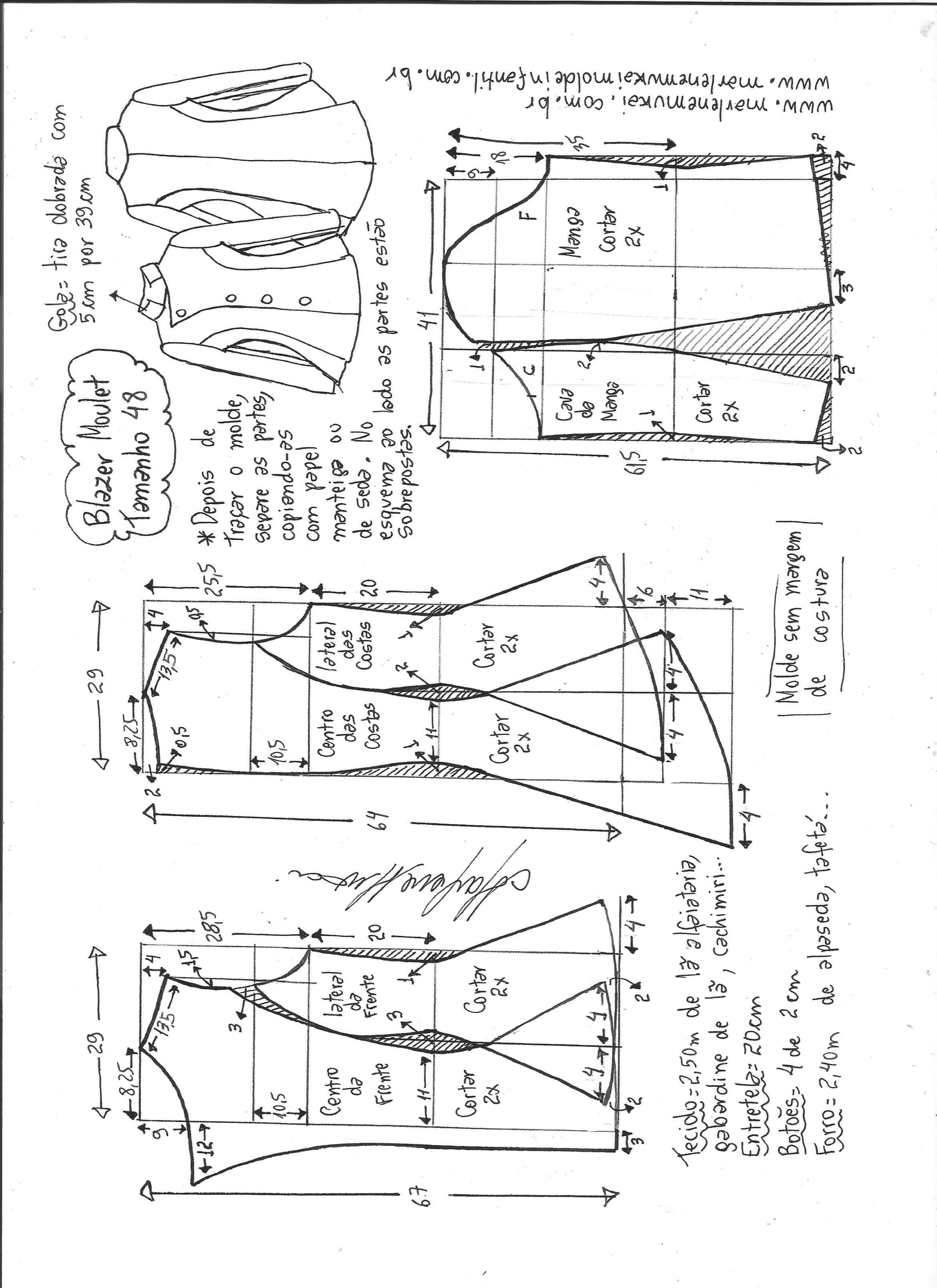 Blazer moulet | Costura, Patrones y Molde