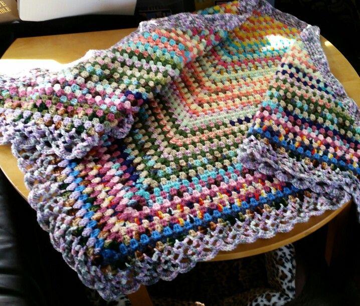 Half granny square shawl | Knitting | Pinterest