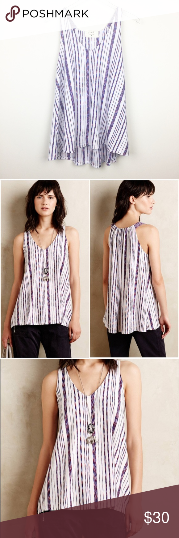 75aaceebcc3 Puella | North South Striped Swing Tunic Top Cute striped swing blouse by  Puella, which