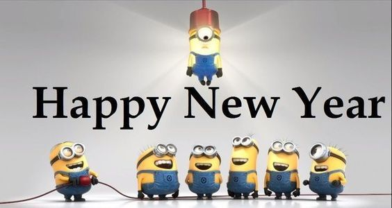 sweet minions happy new year greetings images
