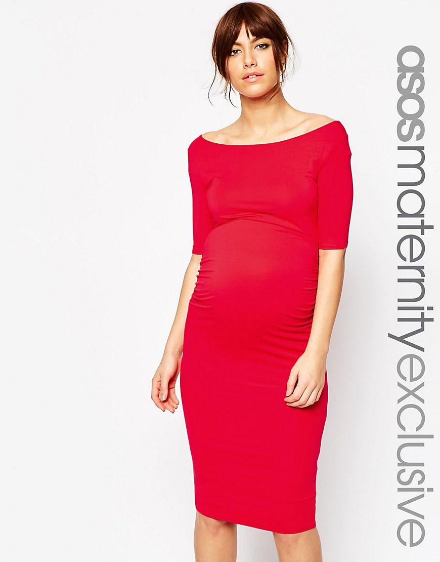 5c3e1797a6d6f Maternity Bardot Dress with Half Sleeve | ::wardrobe wishes ...