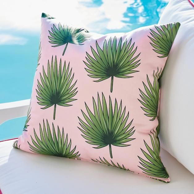 Leila Palm Fronds Outdoor Pillow In 2018 Discount Furniture