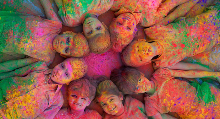 Children As Pure And Fearless Artists Holi Festival Of Colours Color Festival Holi Colors