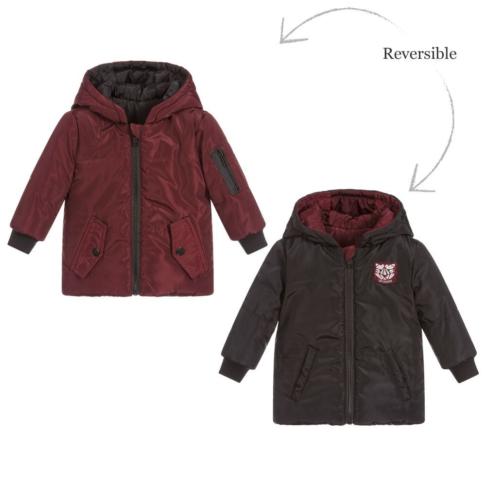 b5f5efb62a8f Boys Reversible Padded Jacket for Boy by 3Pommes. Discover the ...