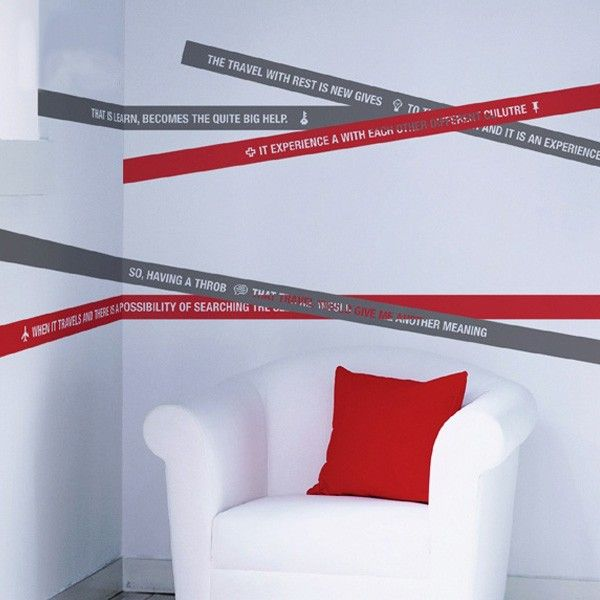 Stripes Wall Decal   Decorative Wall Decals   Pinterest ...