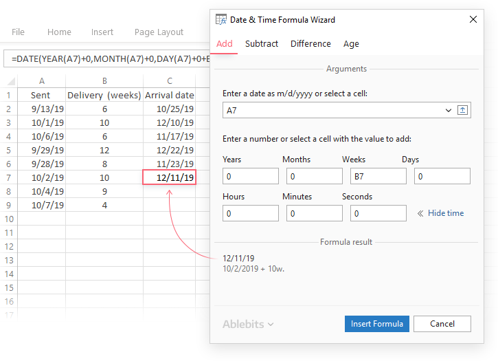 Date Time Formula Wizard For Excel Excel Dating Page Layout