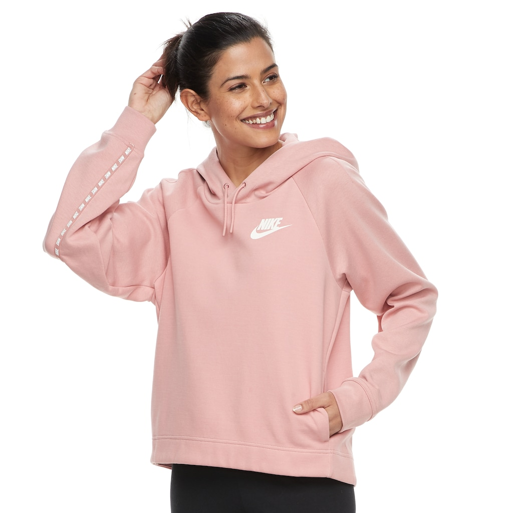 thoughts on preview of detailed look Women's Nike Sportswear Optic Graphic Tape Hoodie in 2020 | Nike ...