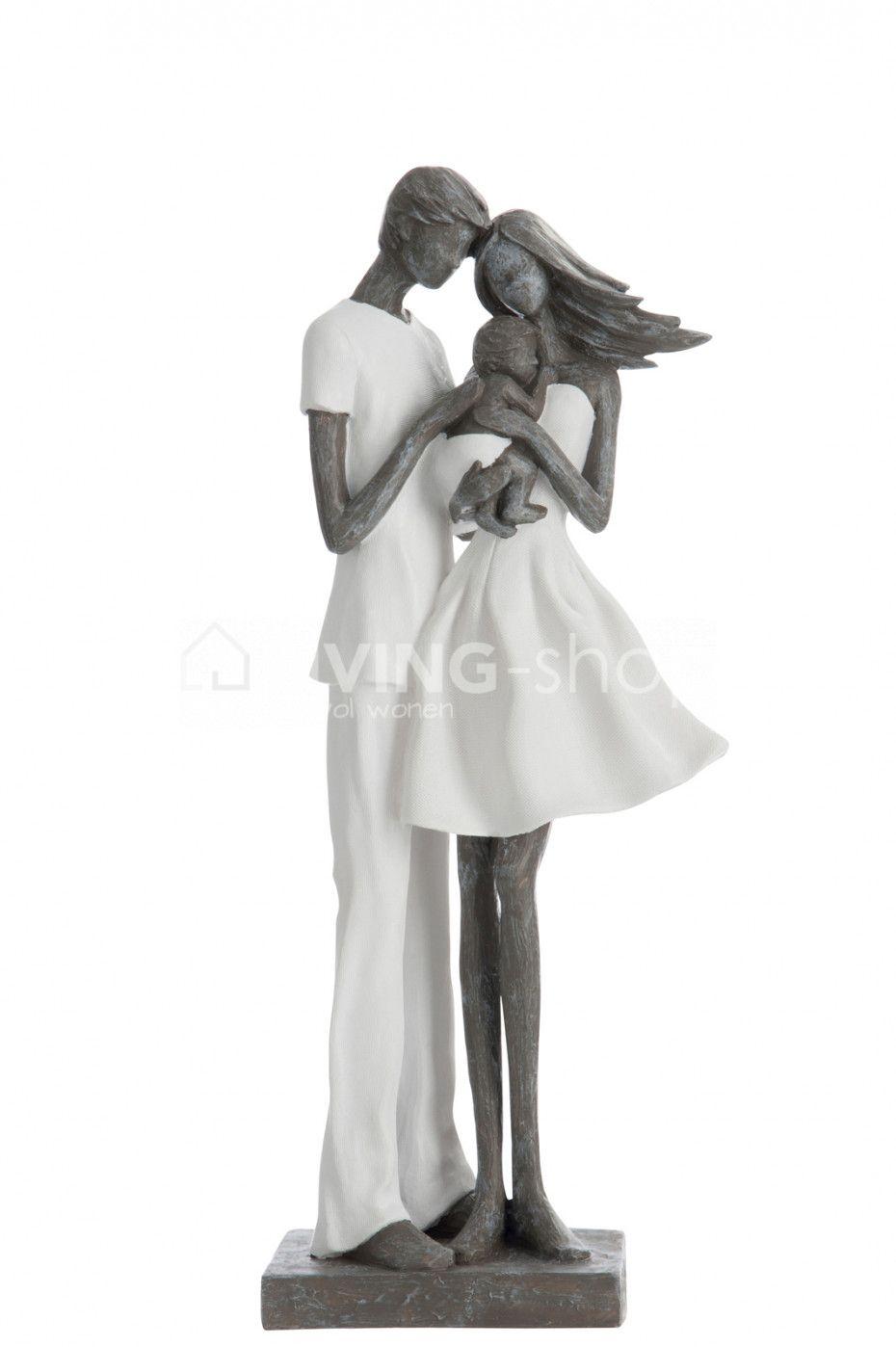Beeld Familie Moeder Met Gezin J Line Livingshop Figurines Jline Beelden Decoration Modernart Familie Moeder Arts