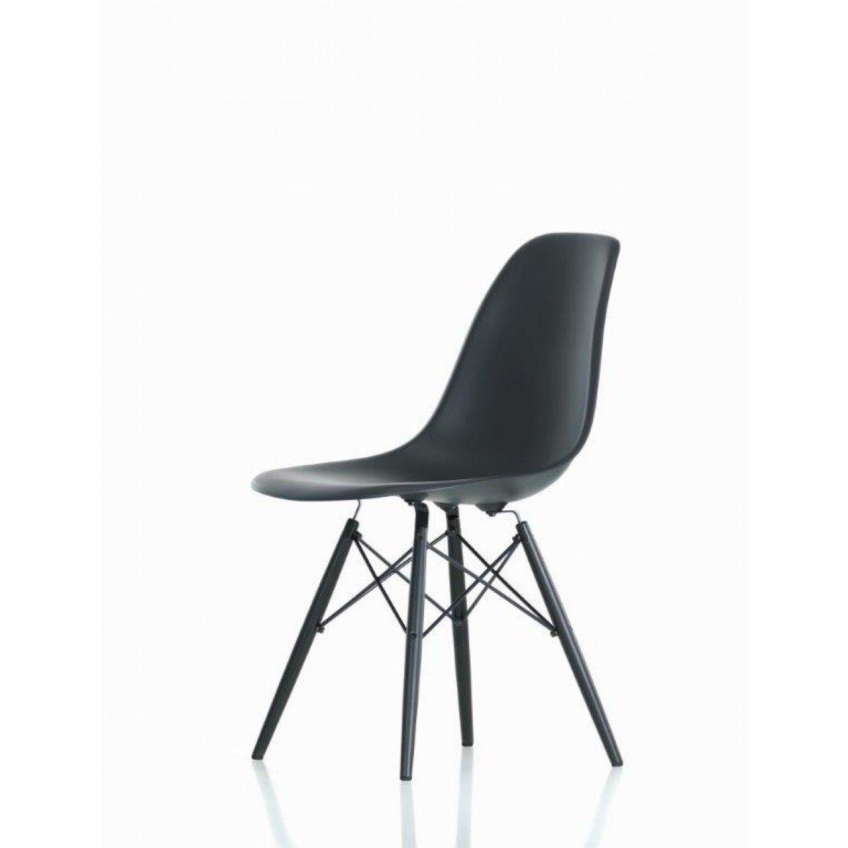 Attractive Vitra   Eames Plastic Side Chair DSW (H 43 Cm), Ahorn Dunkel / Basalt,  Filzgleiter Schwarz (Hartboden) Basalt Pictures Gallery