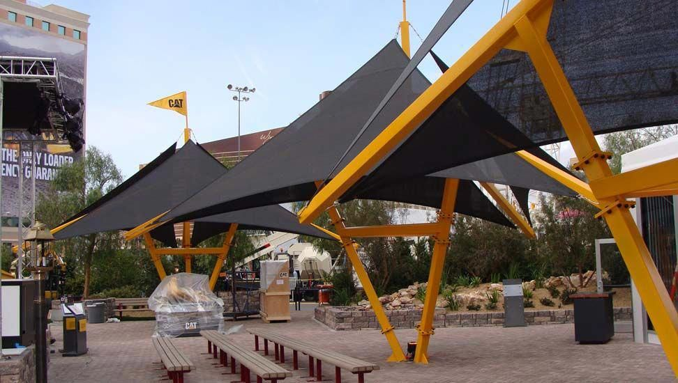Shade Sail Structures Cat Conexpo Trade Show Las Vegas Nevada