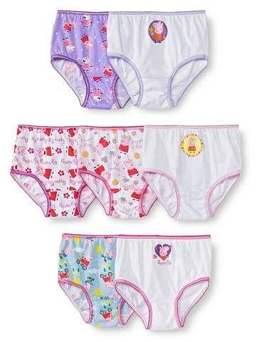 Peppa Pig Girls 7 Pack Panty