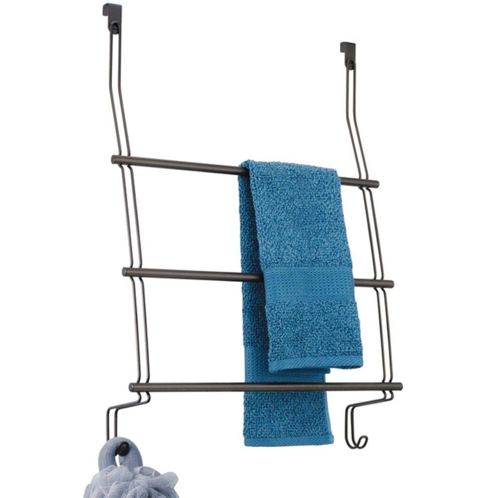 Wall Mounted Towel Rack, Bathroom Towel Racks Shelves Chrome ...