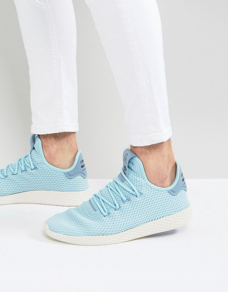 835a744491d1f adidas Originals x Pharrell Williams Tennis HU Sneakers In Blue CP9764