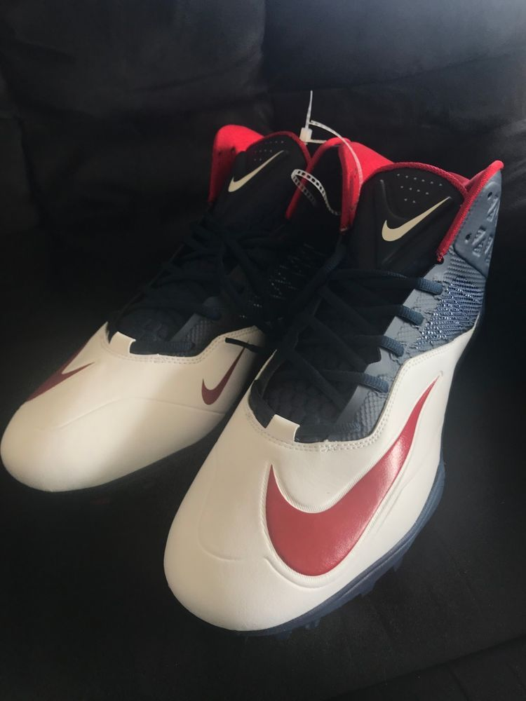 quality design 931a3 0bdfc Trainer Shoes · Sneakers · Sneaker · NEW Nike Zoom Code Elite TD Football  Cleats (620499-413) Red  White