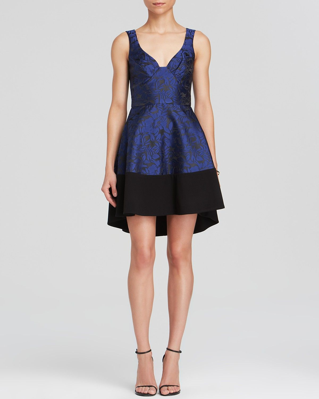 Black halo ruffle sleeve dress