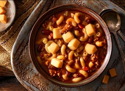 Photo of One-Pot Chili Mac and Apples with Peanut Butter Dip