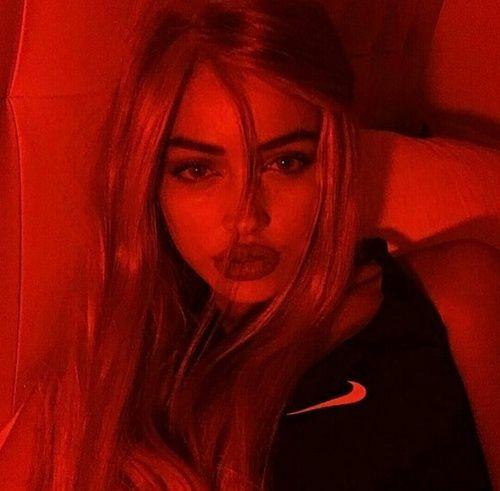 Image result for grunge girl red aesthetic