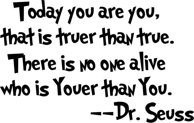 Wall Decal - Today You Are You, That is Truer Than True. Starting at $1 on Tophatter.com!