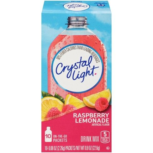 Crystal Light Raspberry Lemonade Drink Mix - 10pk/0.8oz #raspberrylemonade