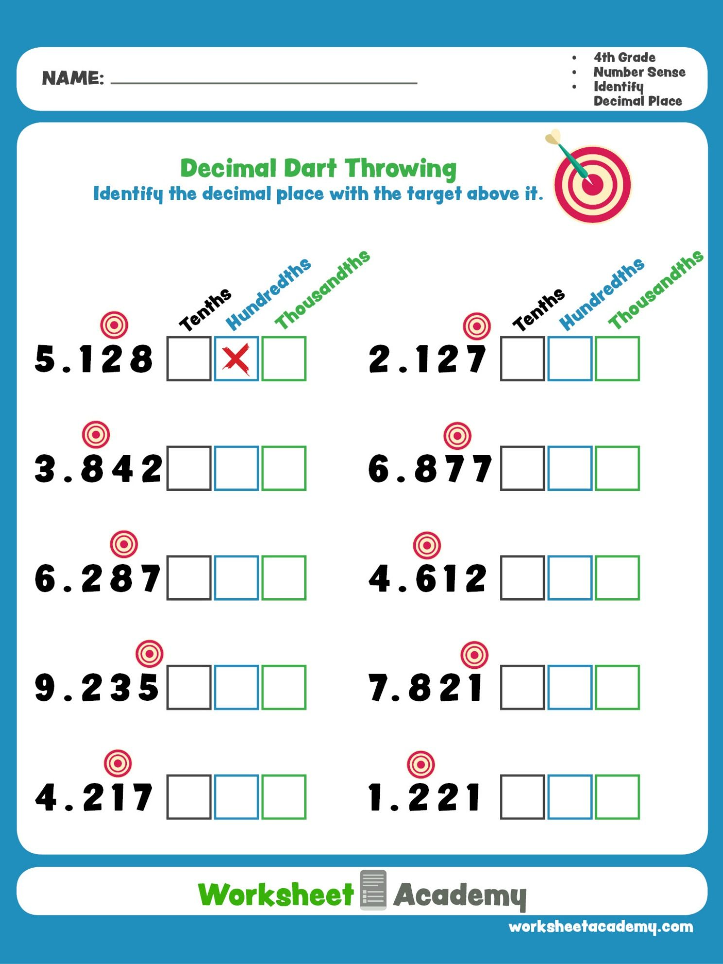 Decimal Dart Throwing