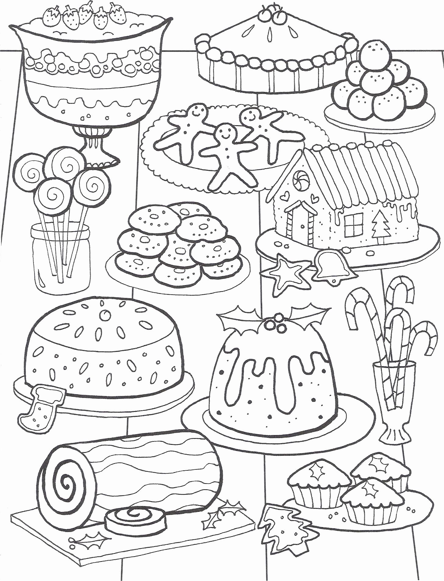 Fun Coloring Pages for Kids Food  Candy coloring pages, Christmas