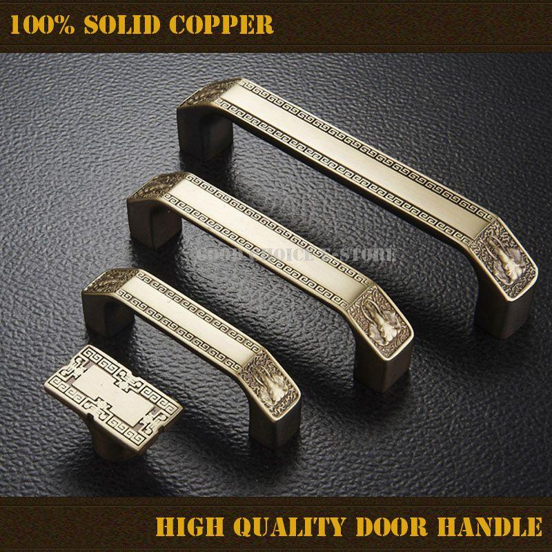 1pcs High Quality Solid Copper Classic Bronze Door Knob Pull Handle ...