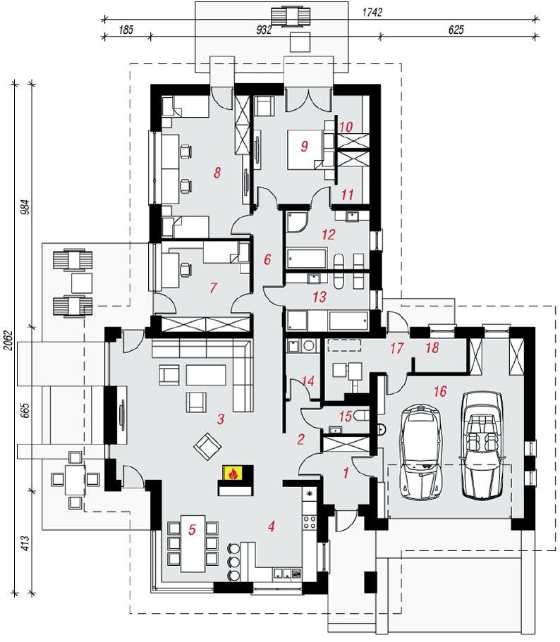 Casa modello da catalogo nr 401 domus green casa for Piantine di case