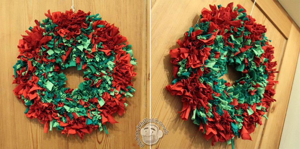 Rag Rug Wreath, 2012