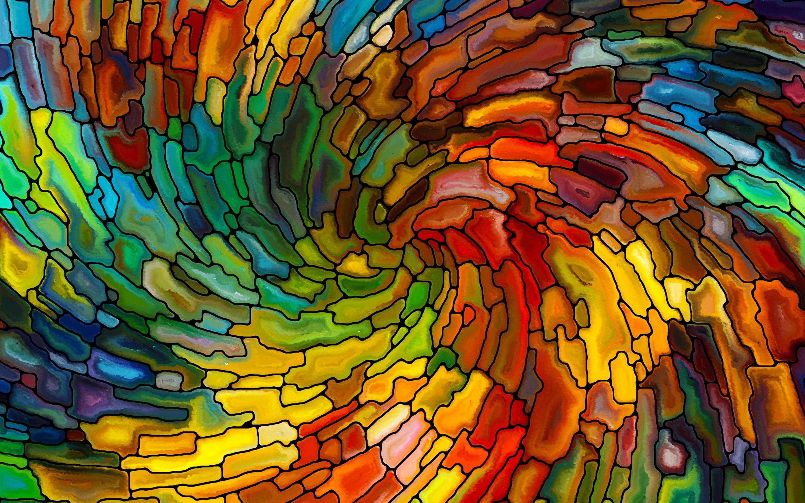Stained Glass Patterns Colorful Wallpaper Hd For Desktop Art Stained Stained Glass Art Abstract Wallpaper