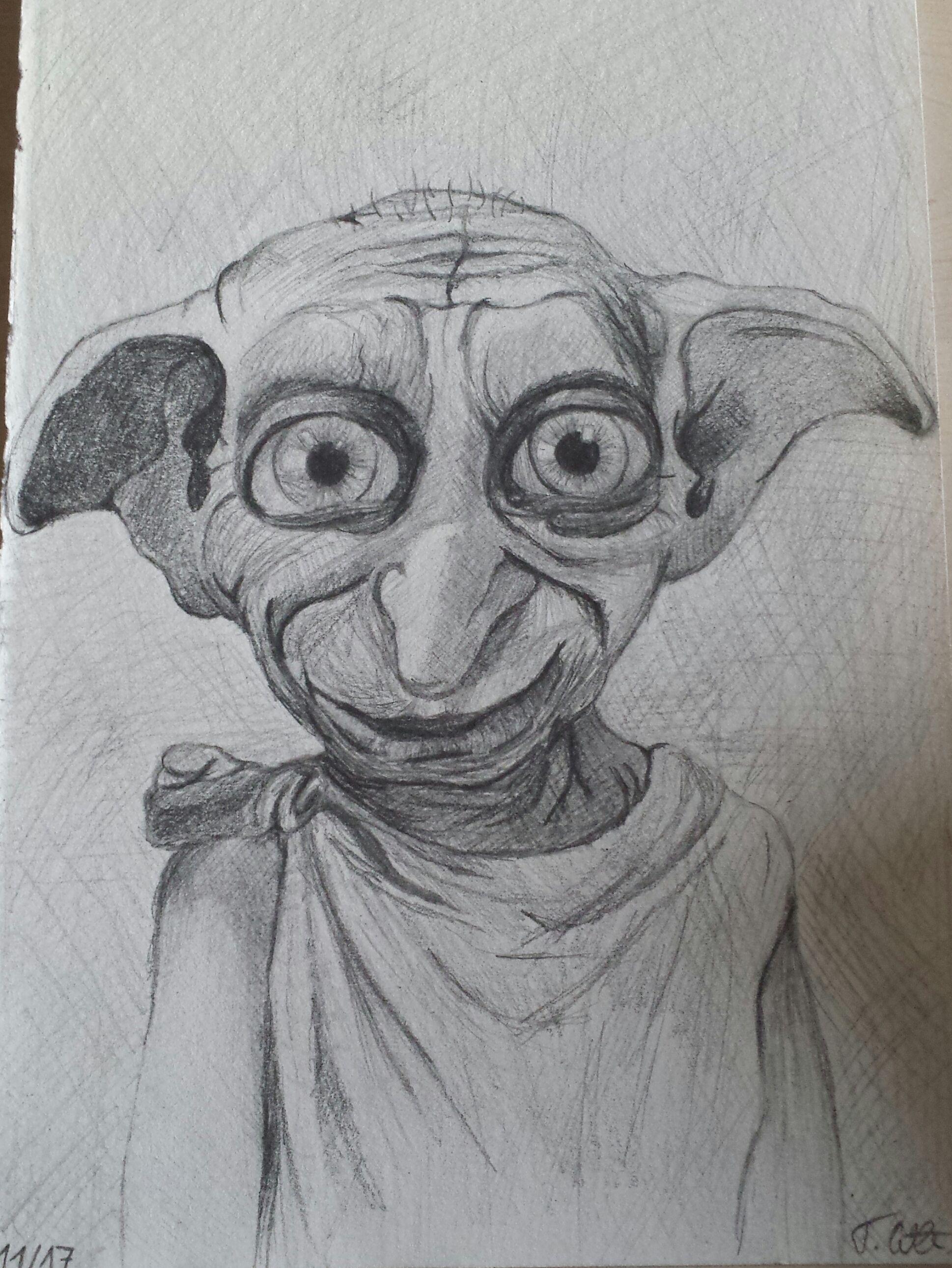 Dobby Ein Freier Elf Harry Potter Zeichnung Zeichnungen Rungholt Harry Potter