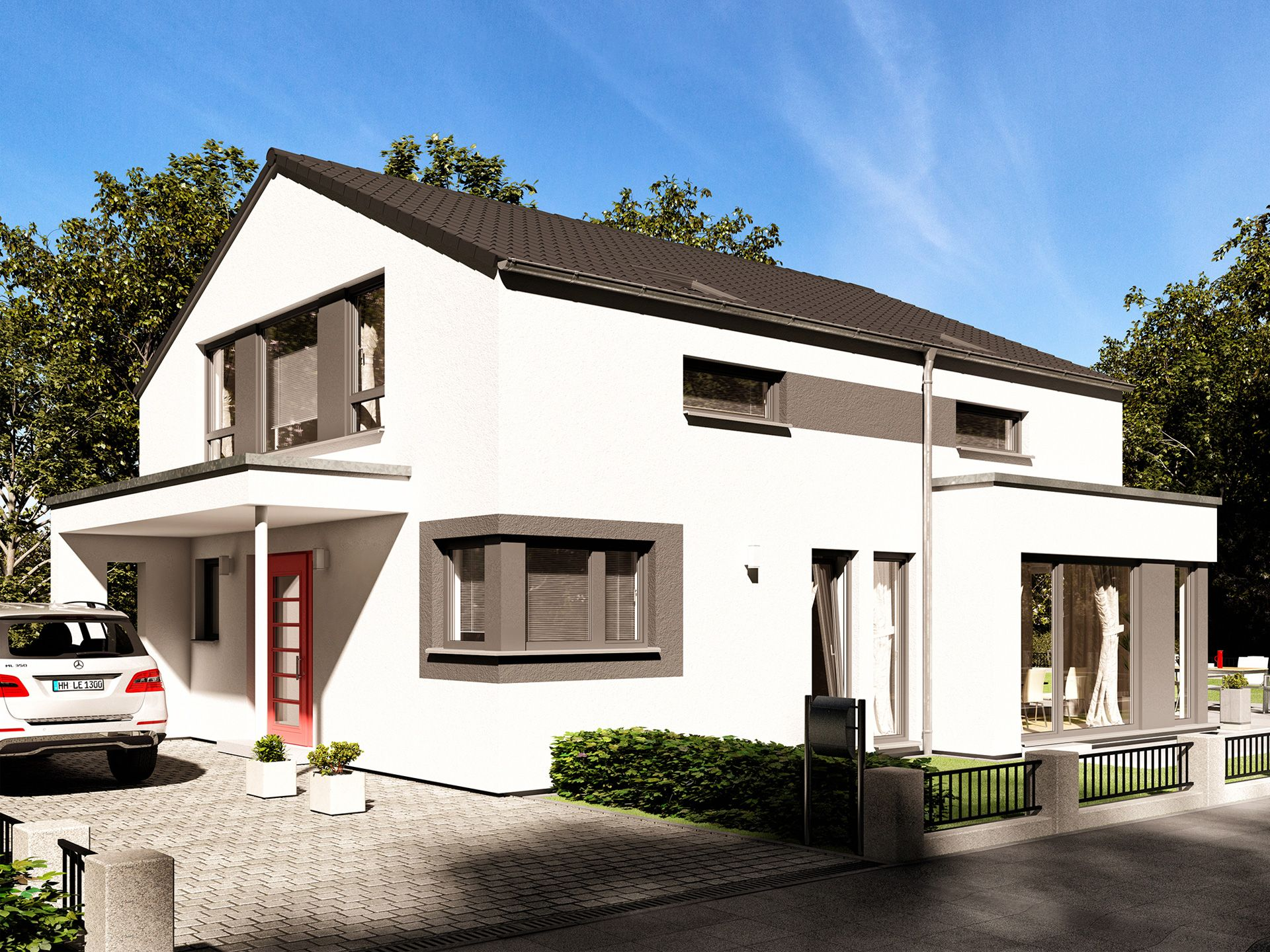 Fertighaus satteldach  Fantastic 162 V4 • Holzhaus von Bien-Zenker • Modernes Fertighaus ...