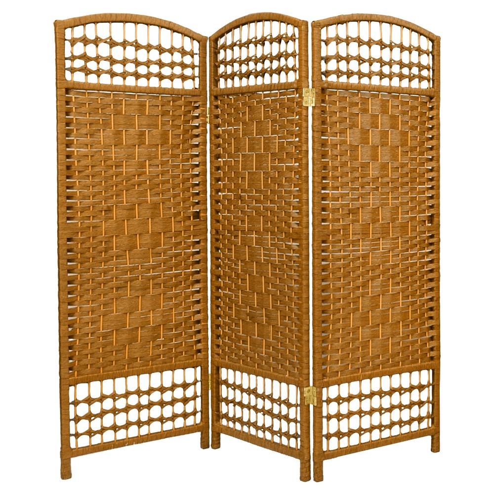 ft tall fiber weave room divider light beige panels