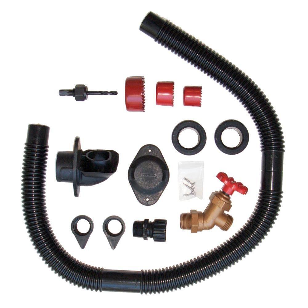 EarthMinded DIY Rain Barrel Diverter and Parts Kit, Black ...