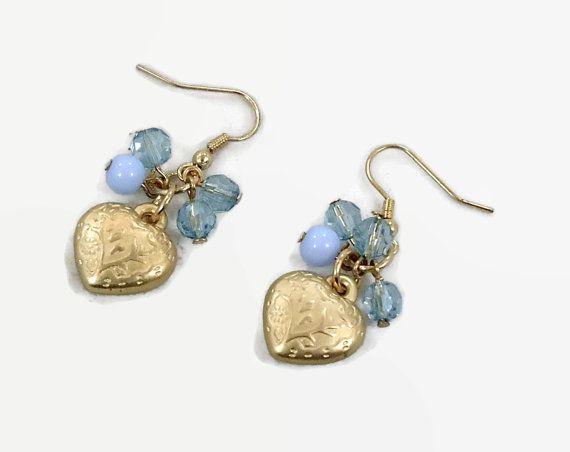 Heart Earrings Brass Boho Jewelry Dangle Earrings Pierced